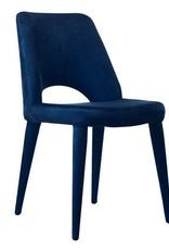 Stoel / Velvet / Blauw - zonder armleuning