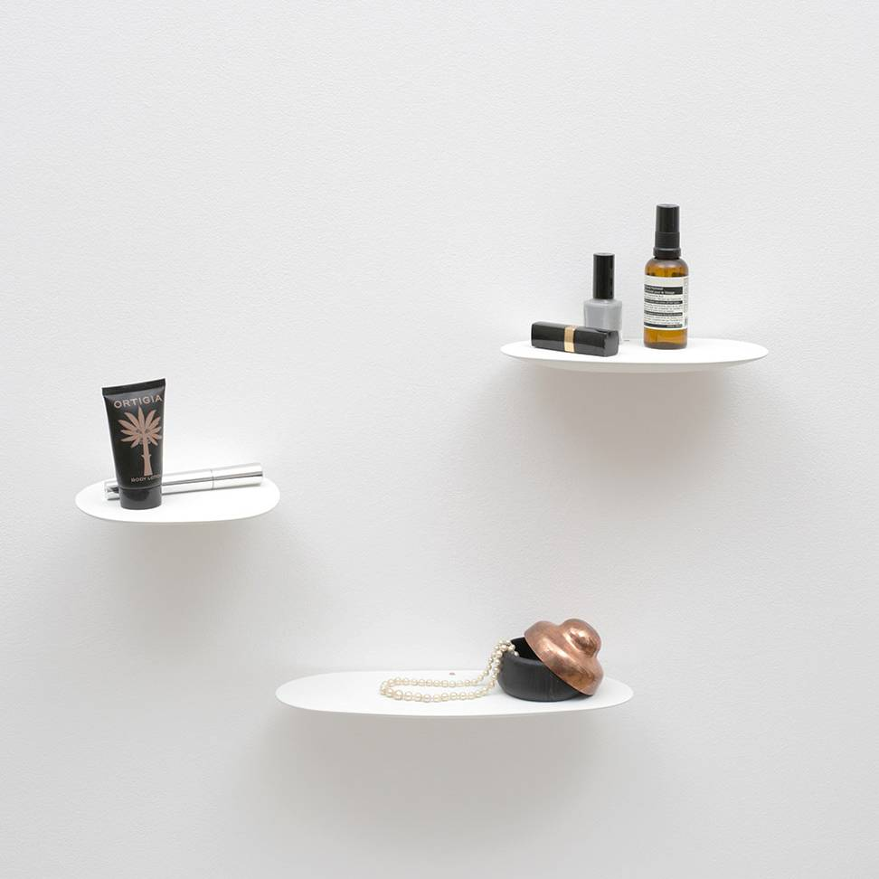 Ceramic shelf / L / White