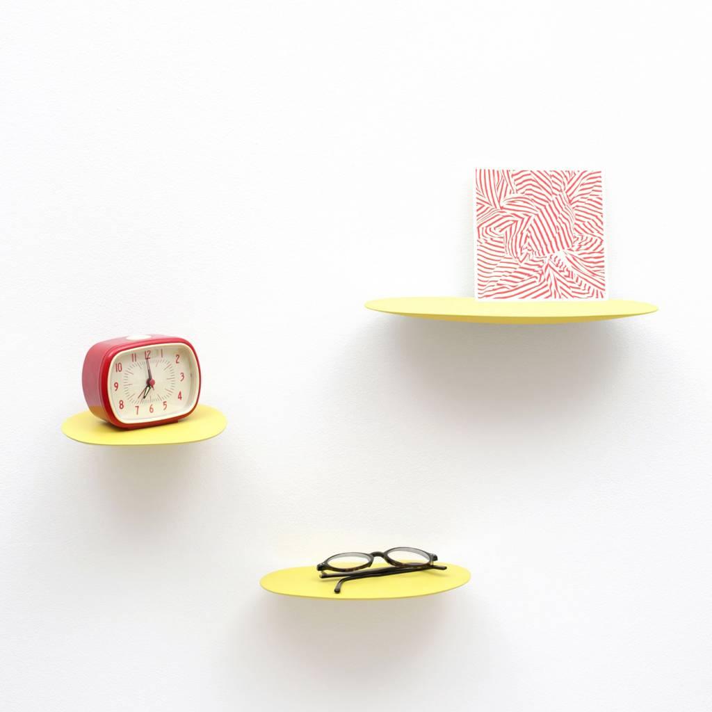 Wandplankje keramiek / M / Geel