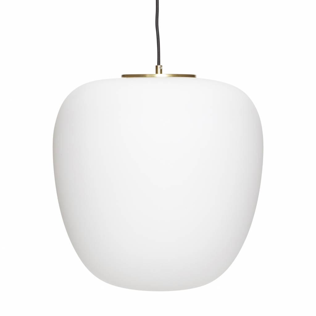 Hanglamp van melkglas / Opal