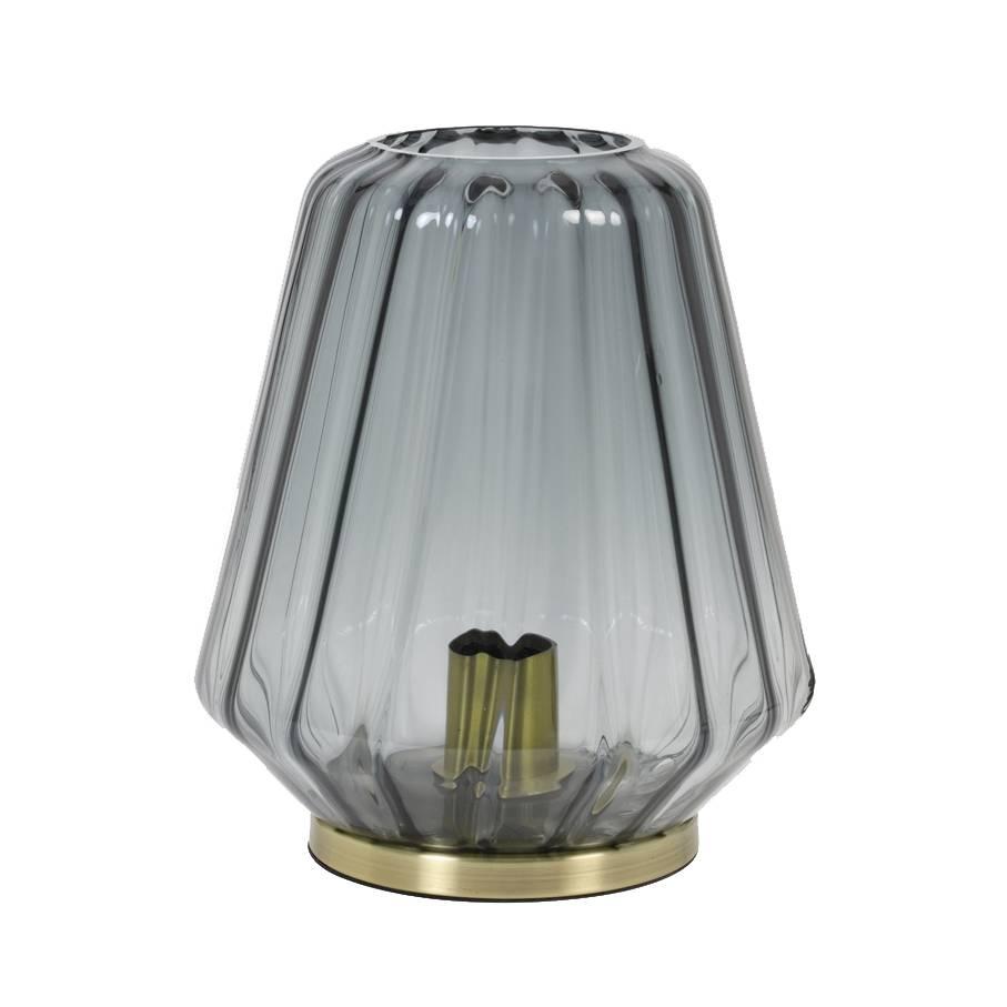 Glazen tafellamp / Gustav / Grijs