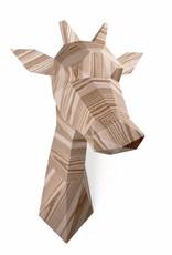 Papieren Giraffe / Hout