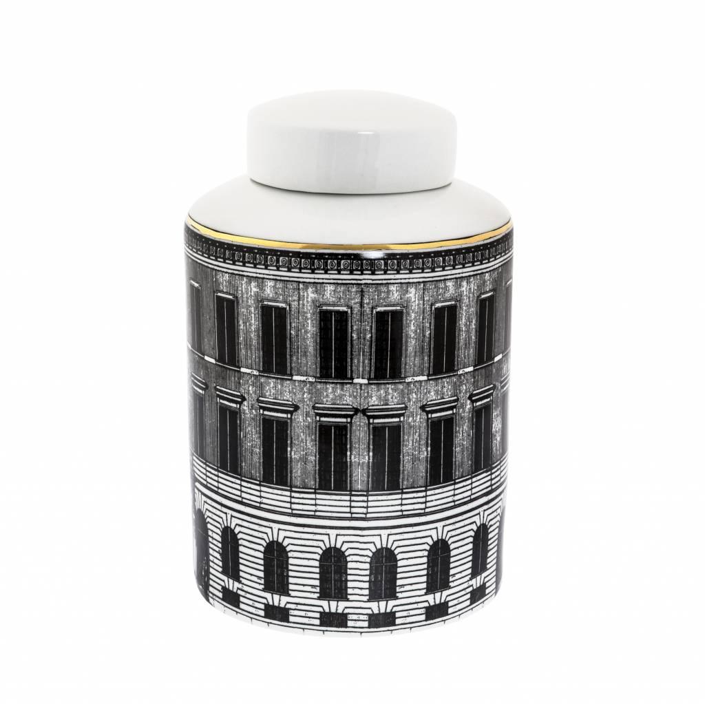 "Ceramic jar with lid ""City"""