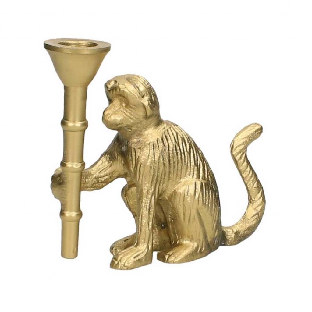 Gold monkey candlestick
