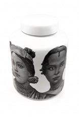 "Ceramic jar with lid ""People"""