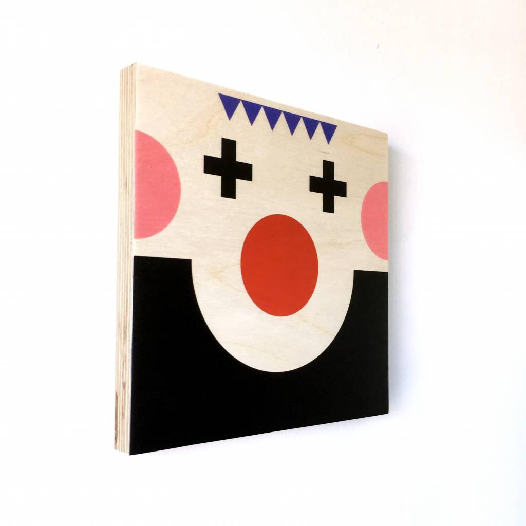 "Wallflower portrait on wood ""Miko"""
