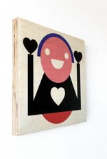 """Wallflower portret op hout """"Wanny"""""""