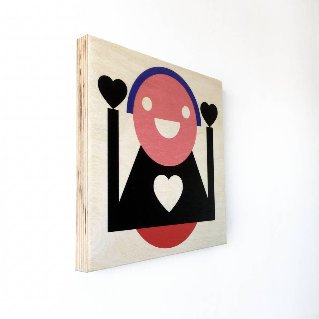 """Wallflower portrait on wood """"Wanny"""""""