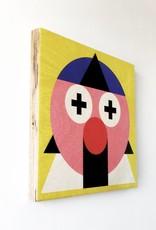 "Wallflower portrait on wood ""Yori"""