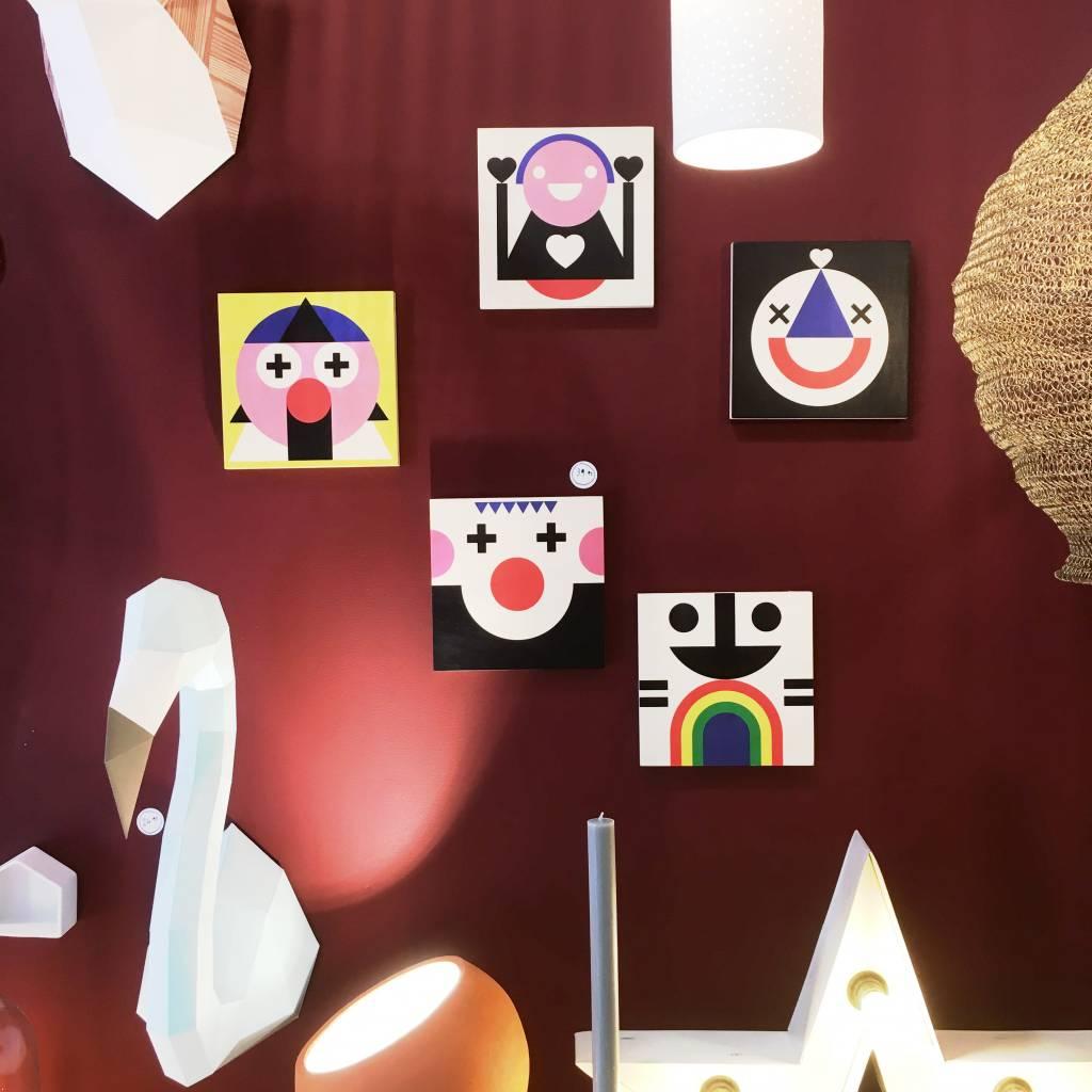 """Wallflower portret op hout """"Koko"""""""