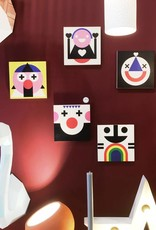 """Wallflower portrait on wood """"Suki"""""""