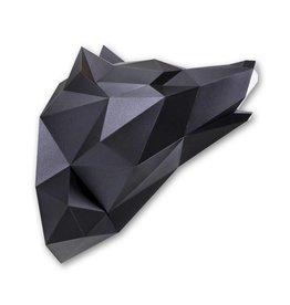 Papieren Wolf / Zwart