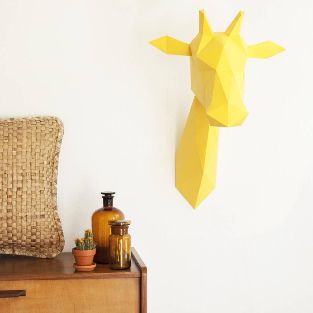 Papieren giraffe / Geel