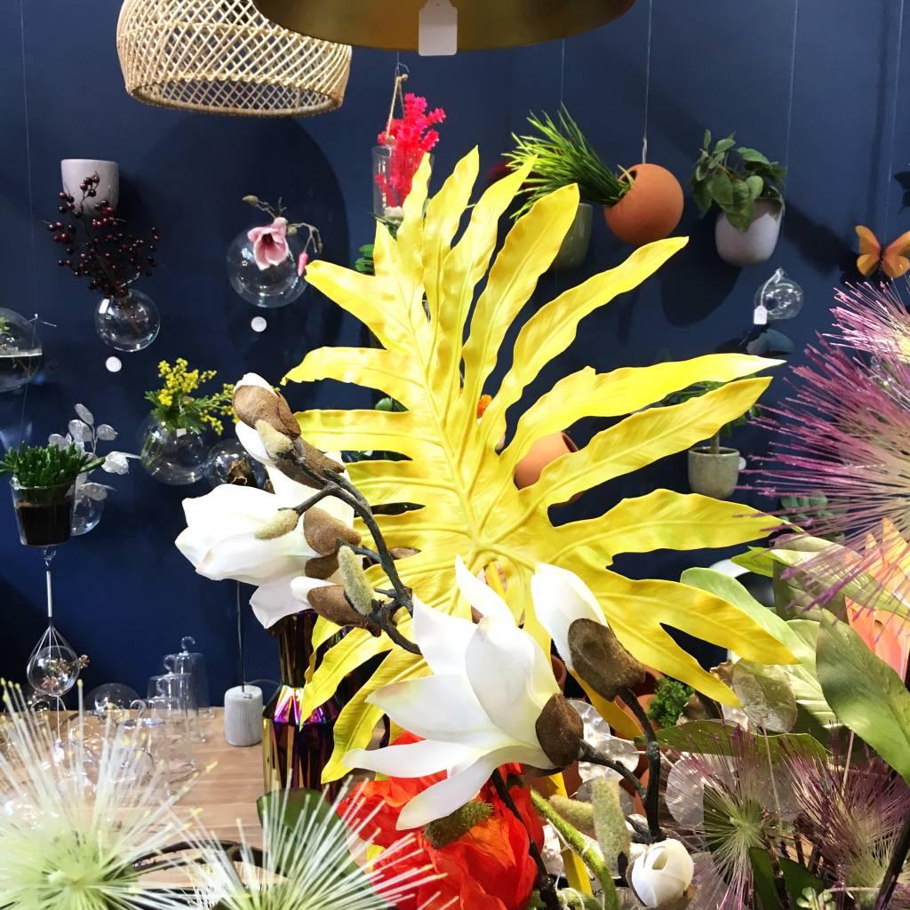 Kunstplant / Philodendron / Geel