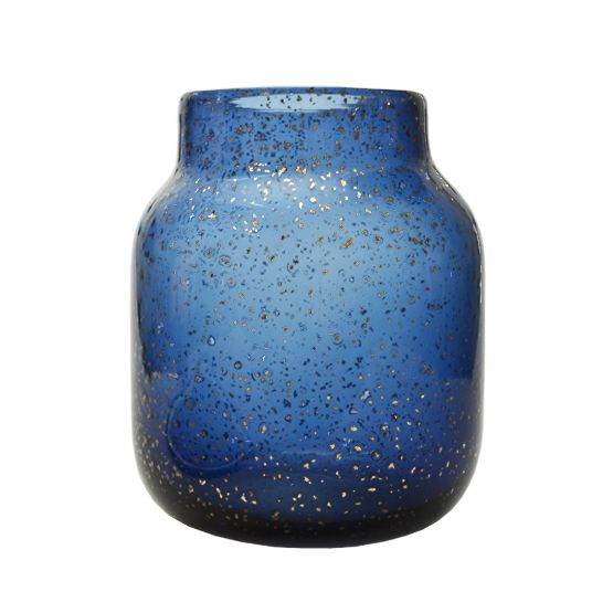 "Design vaas van blauw glas ""Sparkle"""