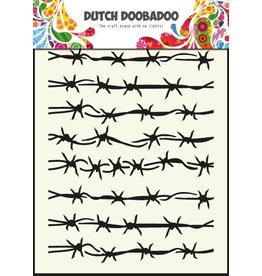 Dutch Doobadoo Dutch Mask Art A5 Barbed Wire
