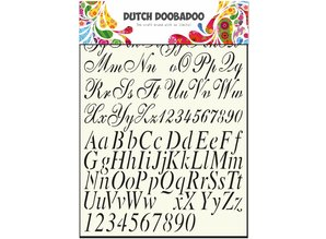 Dutch Doobadoo Dutch Stencil Art A4 Alphabet 2