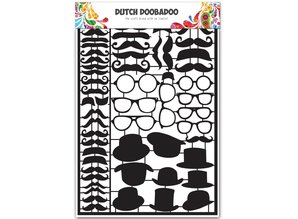 Dutch Doobadoo Dutch Paper Art A5 Black Mustaches
