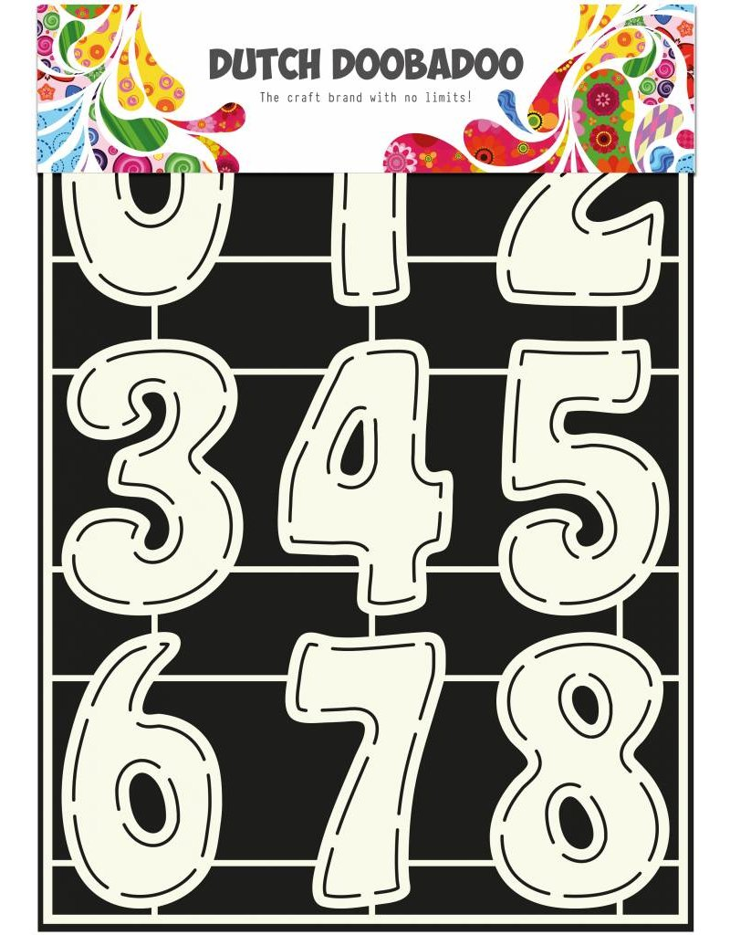 Dutch Doobadoo Dutch Stencil Art A4 Numbers