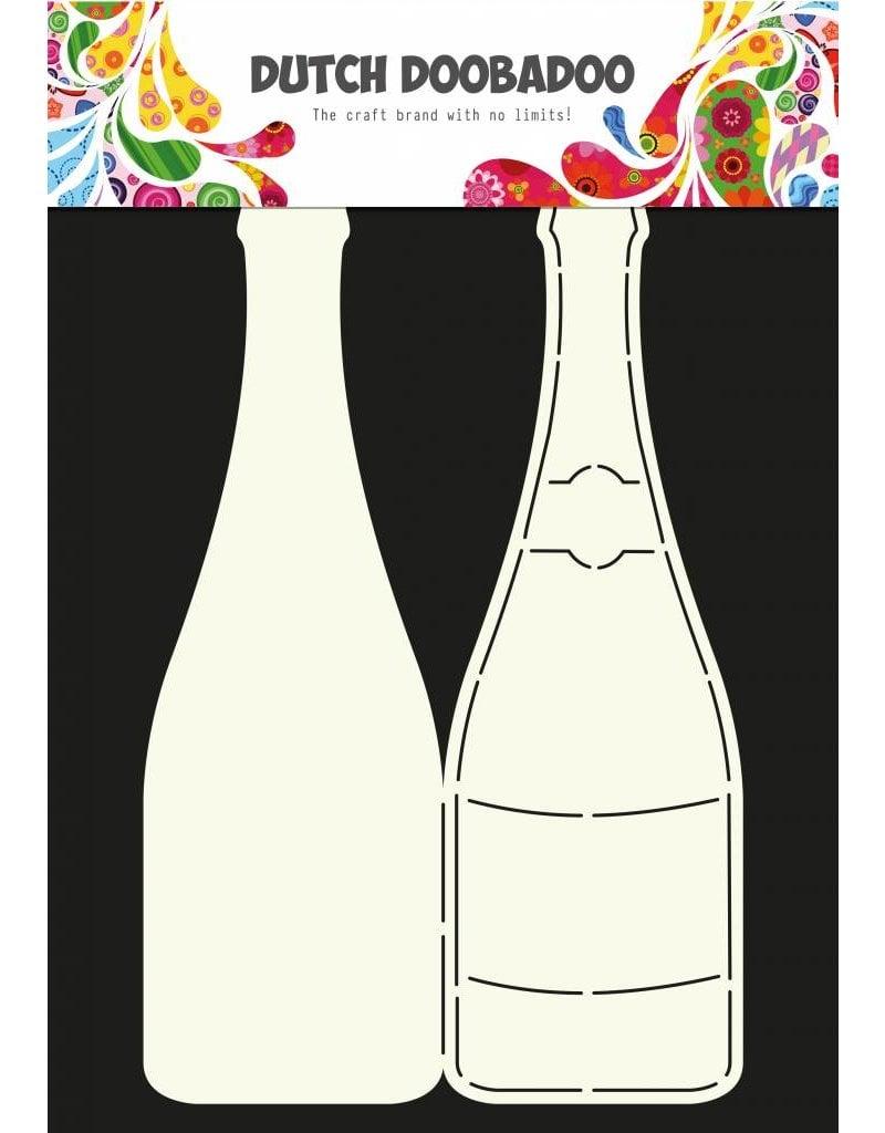 Dutch Doobadoo Dutch Card Art A4 Champagne bottle