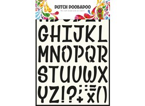 Dutch Doobadoo Dutch Stencil Art A4 Alphabet 5