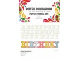 Dutch Doobadoo Dutch Stencil Art A5 Alphabet A-Z (26 stencils)