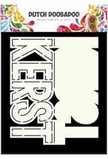 Dutch Doobadoo Dutch Fold Card Art Text 'Kerst' A5