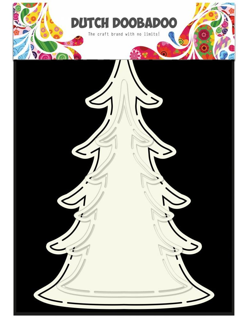 Dutch Doobadoo Dutch Fold Card Art Xmas Tree (2x)