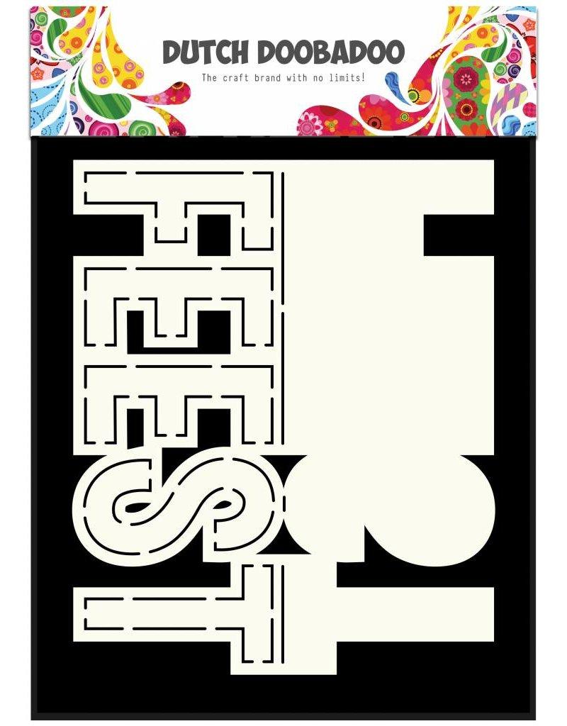 Dutch Doobadoo Dutch Card Art Text 'Feest' A5