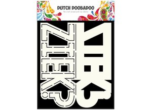 Dutch Doobadoo Dutch Card Art Text 'Ziek' A5
