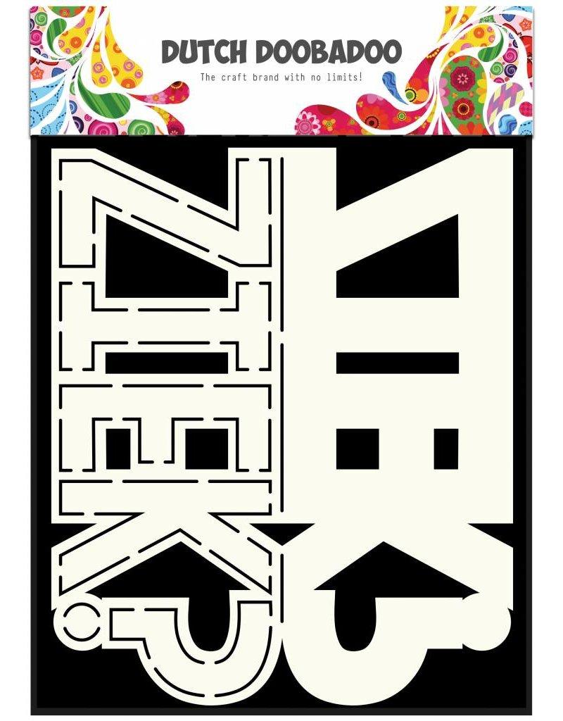 Dutch Doobadoo Dutch Card Art Text 'Ziek' A5