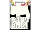 Dutch Doobadoo Dutch Card Art Text 'Baby' A5