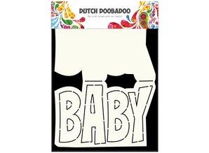 Dutch Doobadoo Dutch Card Art Text 'Baby' A5