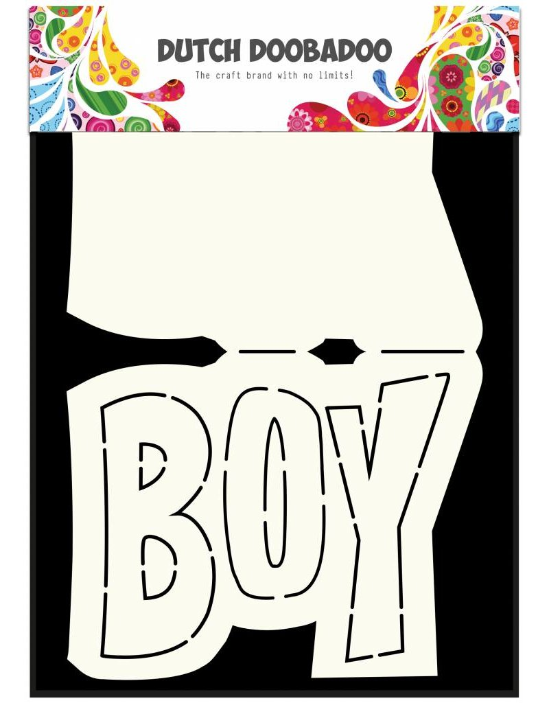 Dutch Doobadoo Dutch Card Art Text 'Boy' A5