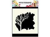 Dutch Doobadoo Dutch Mask Art 15 x 15 cm Tree