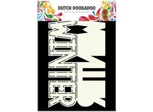Dutch Doobadoo Dutch Card Art Text 'Winter' A5