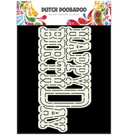 Dutch Doobadoo Dutch Card Art Happy Birthday A5