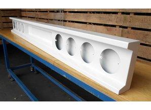 VTS bumper met uitsparing voor kenteken 8x ronde gaten staal