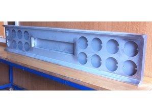 VTS bumper 16 ronde gaten met kentekenuitsparing