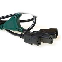230V splitskabel C14 - 2 x C13 1M