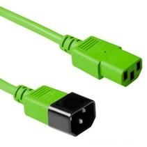 Netsnoer 230V C13 - C14 groen 1.8m