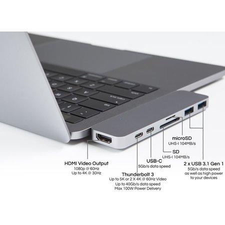 HyperDrive Thunderbolt 3 USB-C Hub (Silver)