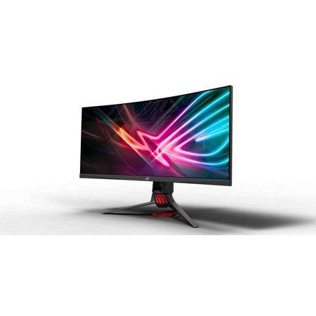 """Asus ASUS ROG Strix XG35VQ 35"""" Ultra-Wide Quad HD LED Glans Gebogen Zwart, Grijs, Rood computer monitor"""