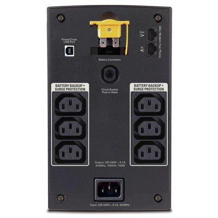 APC APC Back-UPS 1400VA noodstroomvoeding 6x C13, USB