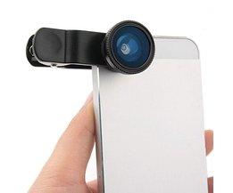 3 in 1 Lieqi Clip Lens Macro Visooglens voor Smartphone en Tablet