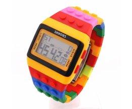 LED Horloge Lego