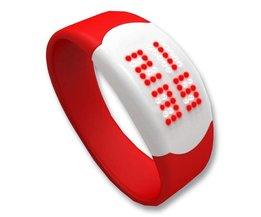 LED Horloge Touch Screen