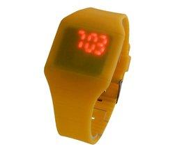 LED Horloge Touch Screen Geel
