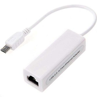 Adapter van Ethernet naar Micro-USB