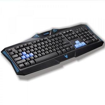 Rajfoo Gaming Keyboard zonder Muis Zwart